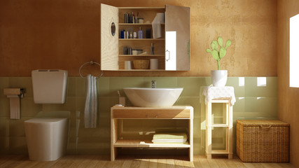 modernes 3D Badezimmer
