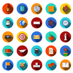 vector flat modern icons set.