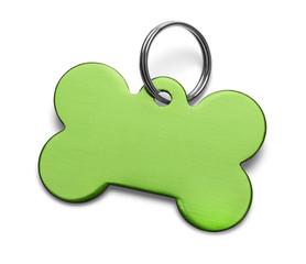 Green Dog Tag