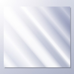 transparent glass on a gray background vector