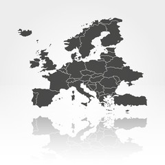 Europe map background vector