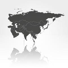 Eurasia map background vector