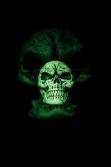 Green Ghost Skull