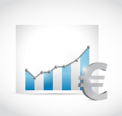 euro business graph chart illustration design