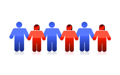 people holding hands illustration design