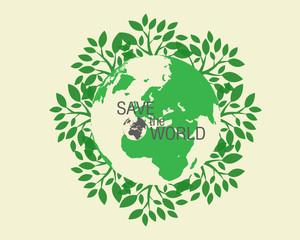 Plant Growing The World - Illustration