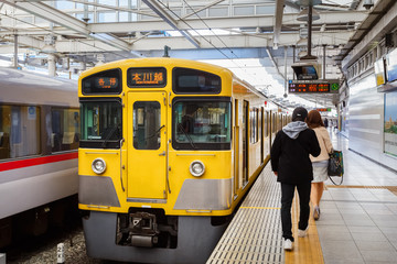 Seibu Shinjuku Line in Japan
