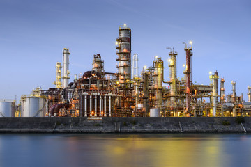 Refineries on a River