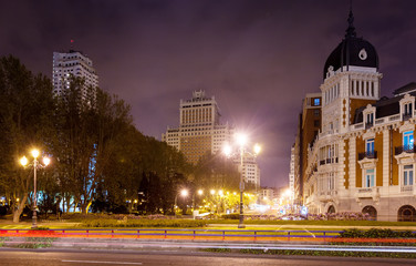 Night view of Madrid