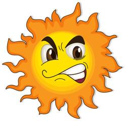 A sun with a face