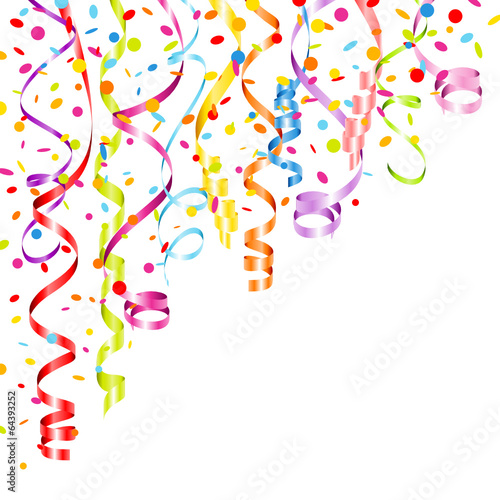 Quot Party Background Streamers Amp Confetti Color Quot Stock Image