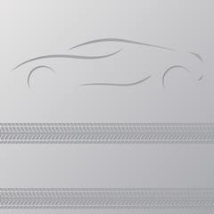 Car advertisement wallpaper design