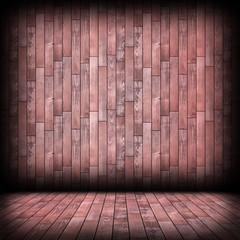 empty architectural indoor wooden room