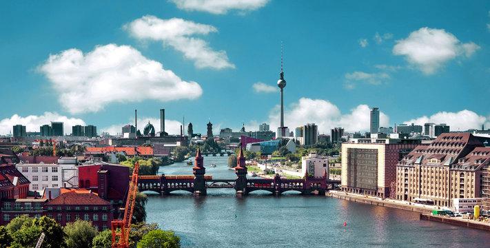 aerial photo berlin panorama