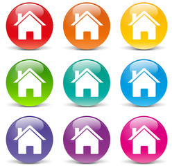 Vector home set icons