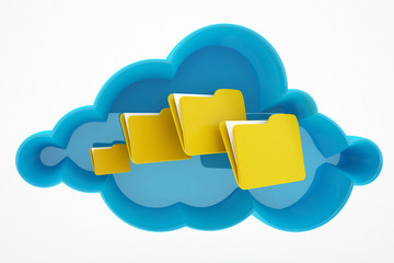 cloud computing and file / folders concept