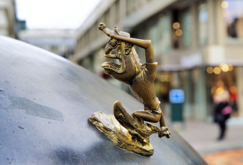 Small bronze troll - a fragment of the monument of Malmo emblem