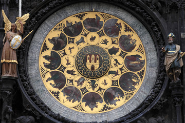 Fragment of prague astronomical clock