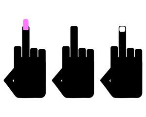 Handzeichen Beleidigung