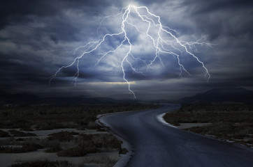 The Road under the Lightning Wall mural