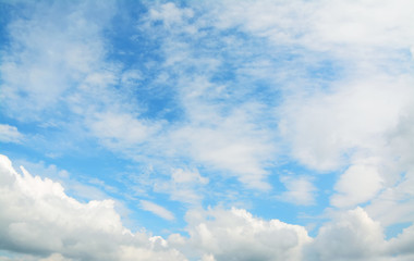blue sky and soft clouds