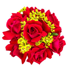 Double Knockout Red rose  wedding bouquet