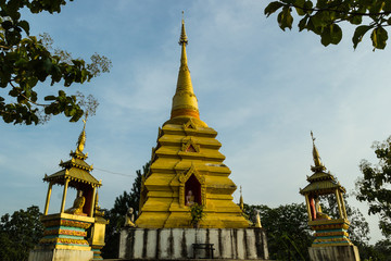 Golden chedi in Chiangmai, Thailand
