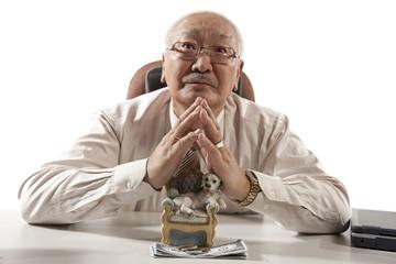 Asian mature businessman