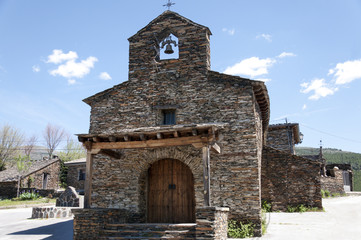 Church typical of the black architecture