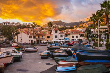 Sunset in Camara de Lobos, Madeira island, Portugal Fototapete