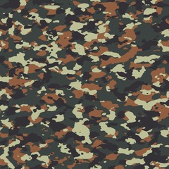 Flecktarn seamless vector camo pattern