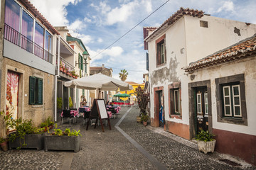 old historic town center of Funchal, Madeira island, Portugal.