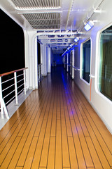 Deck of cruise ship