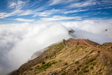 Beautiful Pico do Arieiro in Madeira Island, Portugal