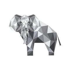 Canvas Prints Geometric animals abstract origami elephant
