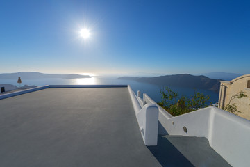 Greece Santorini Panoramic view of caldera