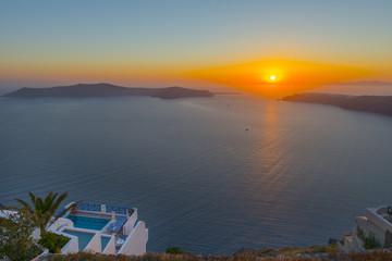 Fototapete - Greece Santorini Sunset