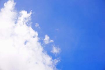 Cloud on left of sky