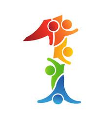 Number 1 Teamwork . Logo concept