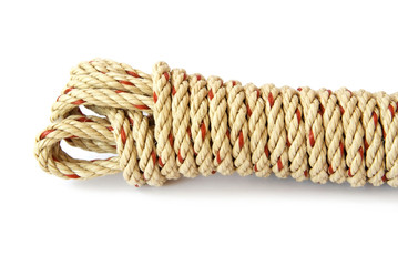 white coil rope