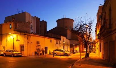 Dawn view of Sant Adria de Besos. Catalonia