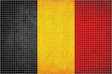 Belgian flag, mosaic