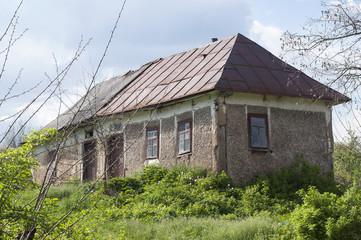 Abandoned old house in ukrainian village