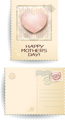 Happy mothers day, postcard