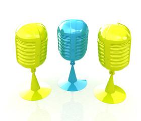 3d rendering of a microphones