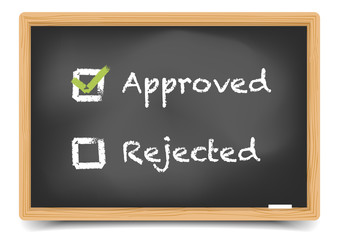 Blackboard Approved Rejected