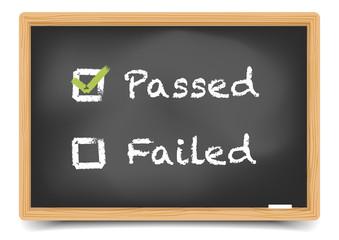 Blackboard Passed Failed