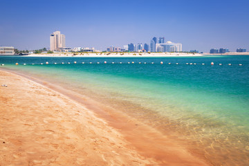 Beach at the Persian Gulf in Abu Dhabi, UAE