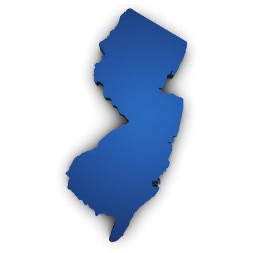Map Of New Jersey 3d Shape