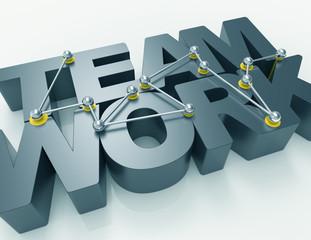 teamwork 3d word concept